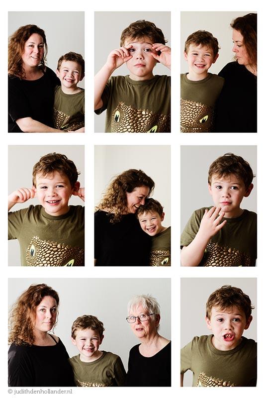 Fotocompilatie familieportret | Portretfotograaf Judith den Hollander