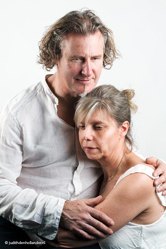 Sereen dubbelportret van man en vrouw | all rights reserved | Portretfotografie Judith den Hollander