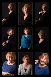 Photo frame 9 portraits