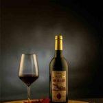 Wijnfles fotografie Zuid-Limburg | Rode wijn in de fotostudio.