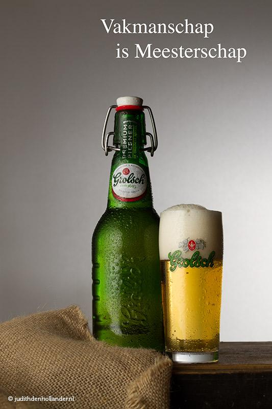Reclamefotografie | Productfotografie Bier | A4 staande advertentie magazine