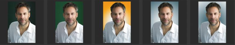 Zakelijk portret voor een nieuwe website. Kleurenfoto variatie : omdat het kan.