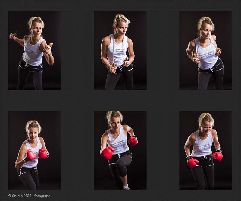 Fitness Fotoshoot | Fotostudio JDH Maastricht regio. Een sportieve shoot met speciaal licht.